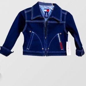Tommy Hilfiger Girl's Zip Up Jean Jacket Size 5/6